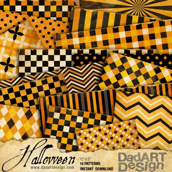 Halloween Digitala Paper Package