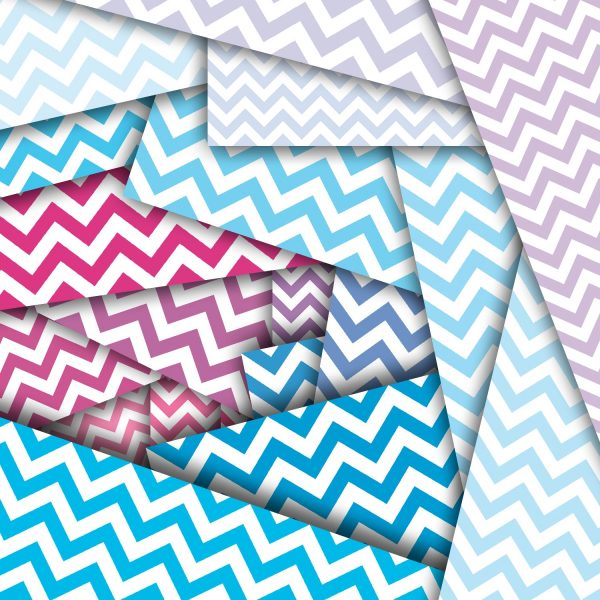 24 Chevron Patterns Digital Paper Pack