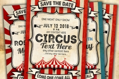 Vintage Circus 04 Card template