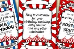 Circus 03 card template